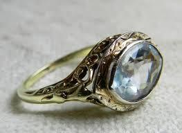 aquamarine ring art deco 2 25 carat aquamarine engagement ring