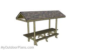 12 foot picnic table with roof plans myoutdoorplans free