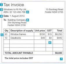 Invoice Template Excel Australia Issuing Tax Invoices Australian Taxation Office