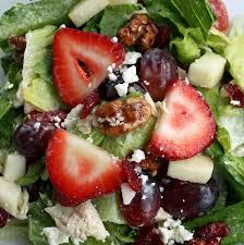 fruit nut salad 1 bunch chopped green leaf lettuce 2 peeled