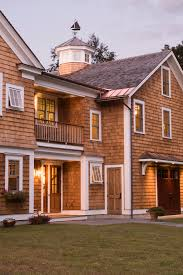 Cedar Barn Door Cedar Shake Siding Exterior Traditional With Balcony Balustrade