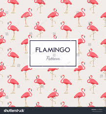pink color scheme lovely pink flamingo vector flat seamless stock vector 317466626
