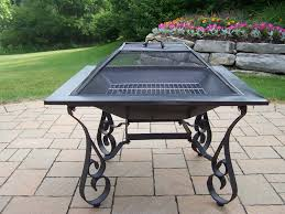 Firepit And Grill by Oakland Living Victoria 33 Inch Square Fire Pit With Grill And