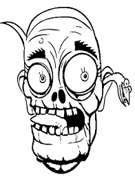 face zombie coloring kids halloween cartoon coloring pages