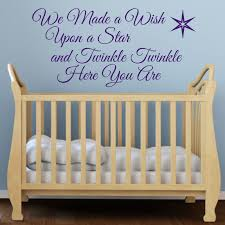 wall decals stickers home decor home furniture diy we made a wish upon a star nursery rhyme children s bedroom wall sticker decal