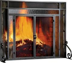 plow hearth 2 panel steel fireplace screen reviews wayfair