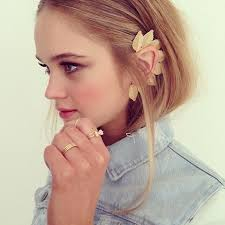 what is ear cuff ear cuffs in gold leaves style 2015 collection trendy mods