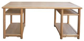 Natural Wood Computer Desk Long Natural Wood Painting Table Office Writing Desk Desks And