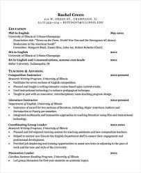Job Shadowing Resume by 7 Teaching Curriculum Vitae Templates Free U0026 Premium Templates
