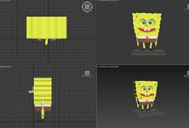 sponge bob square pants 3d model cgtrader