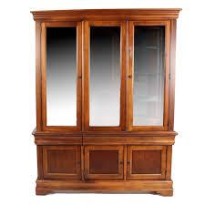 cherry wood china cabinet bassett furniture solid cherry wood china cabinet ebth