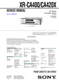 sony cdx r88 cdx r66 car cd radio supplement service manual