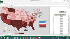 interactive color united states map interactive map in excel