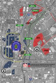 Denver Traffic Map Denver Broncos Parking And Transportation