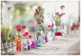 Mismatched Vases Wedding A Tale Of Two Wedding Flower Trends