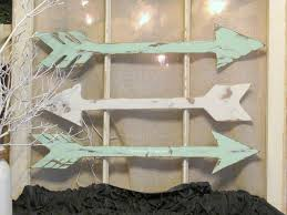 wood arrow wall decor aqua white handmade arrows rustic arrow