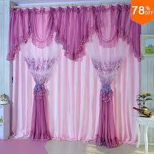 Pink And Purple Curtains Pink Quality Embroidered Lace Curtain Purple Window Finished