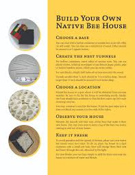 Build Your House Build Your Own Bee House Concordia College