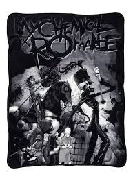 parade throws my chemical the black parade throw blanket hot topic