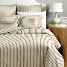 Cost Of Duvet Ticking Stripe Duvet Navy Ballard Designs
