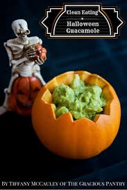 Vegetarian Halloween Appetizers by Eating Halloween Guacamole Recipe