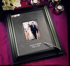 personalized wedding autograph frame signature frames wedding canvas