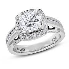 semi mount engagement rings passionstone 1 2 ctw cut halo semi mount engagement
