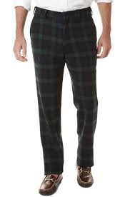 Mens Christmas Holiday Party Pants Blackwatch Tartan Plaid