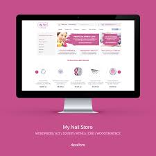 woocommerce website for mynailstore leading nail products online