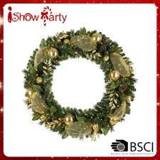 wholesale indoor hanging wreath deco mesh wreath