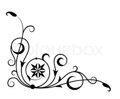 floral ornament stock vector colourbox