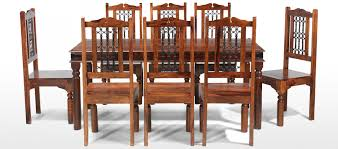 jali sheesham 180 cm thakat dining table and 8 chairs quercus living