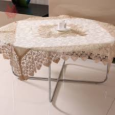 Coffee Table Cover Beige Coffee Table Cloth Floral Jacquard Satin Dining Table Cover