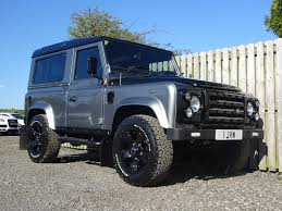 land rover defender black used land rover defender 90 car derived van 2 4 tdi hard top 3dr