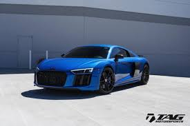 Audi R8 Blue - tag blackout cosmetic package for audi r8 2017