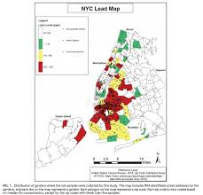 map of nyc areas special report despite progress lead hazards vex new york