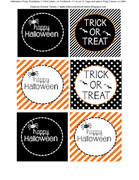 halloween printable treat bags u2013 festival collections