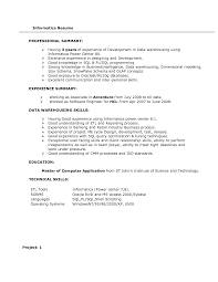 Etl Tester Resume Sample by Informatica Resume Free Resume Example And Writing Download
