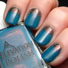 teal and copper reverse glitter gradient nail art adventures in