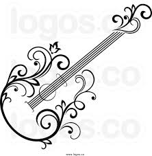 guitar clipart tribal pencil and in color guitar clipart tribal