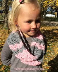 toddler infinty scarf crochet toddler grey chevron and