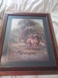 home interior deer pictures retired homco home interior deer picture 533592908