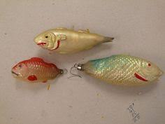 antique glass fish ornament coastal nautical