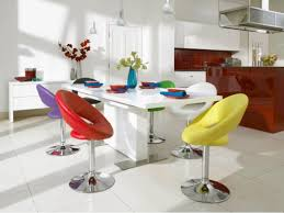 colourful dining room table and chair sets with red yellow and