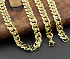 curb link necklace images Never fade solid gold stainless steel men cuban curb link necklace jpg