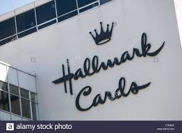 a logo sign outside of the headquarters of hallmark cards in