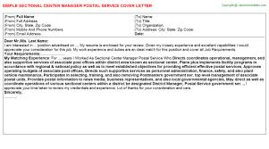 postal service mail carrier cover letters