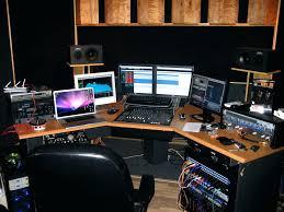 impressive music studio desk music corner production desk