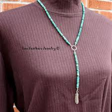 turquoise necklace silver chain images Best native american beaded necklace products on wanelo jpg