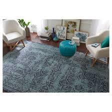 overdyed area rug turquoise 7 u0027 x 10 u0027 threshold target